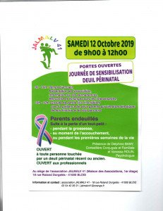 Flyer Journée Deuil Périnatal 2019